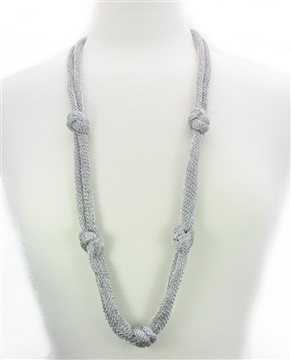 silver floating knot necklace