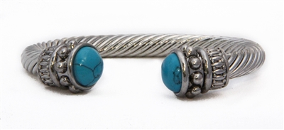 turquoise rimmed cuff bracelet